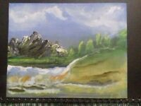 Small canvas oil painting.