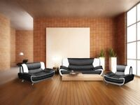 AMAZING OFFER! BRAND NEW CAROL SOFA 3+2 * BLACK AND RED OR GREY AND WHITE & BLACK AND WHITE