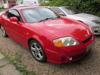 2002 Red Hyundai Coupe 2.7 V6 Red