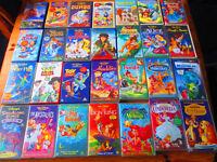 DISNEY VHS 28 TAPES