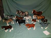 Collection of vintage Shire horses