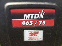 MTD petrol shredder and chipper 250 cc good strong engine 11 yes old not much use see photos