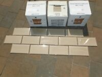 New Metro Bevelled Taupe coloured tiles 200mm x 100mm 3 and a half sqms