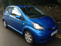 2010/60 Toyota Aygo Blue 1.0 VVT-i 3 Door 9 months MOT 50+ MPG only £20 to tax