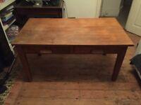 Vintage desk with draws