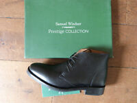 Size 8 black new unworn Italian handmade leather shoes/boots
