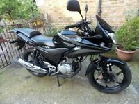 HONDA CBF125, 2011, BLACK, VGC, SERVICED WITH NEW MOT, 13868MILES, ANY INSPECTION, DELIVERY &PARTEX