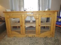 Sideboard well loved unusual could be used as is or upcycled