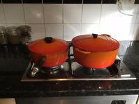 Pair of le creuset for sale
