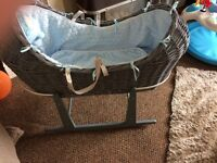 Boys Moses baskets like new
