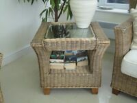 Conservatory Rattan Side Table