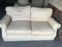 FREE CREAM LEATHER 2 SEATER SOFA,CAN DELIVER