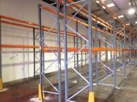 10 bay run of dexion pallet racking , ( storage , industrial shelving )