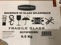 Rangemaster 90 Rockface Glass Splashback