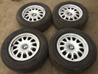 """For sale - BMW 5 series e39 15"""" alloy wheels - excellent tyres"""