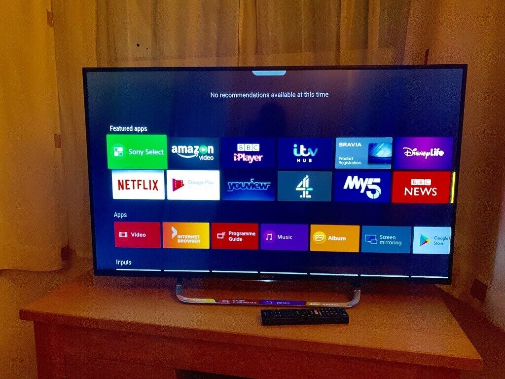 """Sony 43"""" 4K ultra hd smart led ANDROID tv NEW condition fully working £280  NO OFFERS CAN DELIVER 