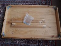 Ikea Wooden table 75cm x 120cm - all parts and screws