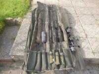 3 CENTURY ARMALITE SP 12FT 3TC RODS&3 DIAWA WINDCAST X5500 REELS