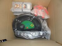 Nintendo 64 Games Console With 2 Controllers Games And Steering Wheel N64 Collectable Rare Snes Nes