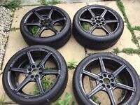 """17"""" Wolfrace Alloy Wheels and Tyres"""