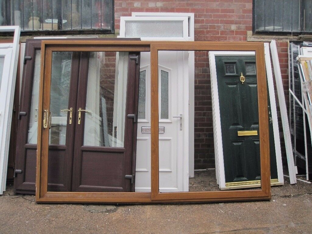 2600 x 2045 Golden Oak Sliding Patio Doors (USED)   in Sheffield ...