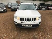 JEEP COMPASS 2.0 SPORT PLUS 5d 154 BHP FULL HISTORY (white) 2012