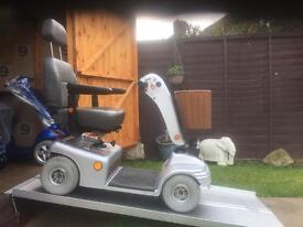 SILVER SHOPRIDER DELUXE MOBILITY SCOOTER - All terrain - fast + BRAND NEW BATTERIES - WAS £2500