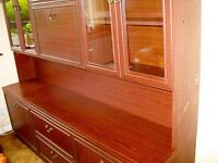 FREE DOUBLE MAHOGONY WALL UNIT Set FROM 1990. Good Condition (Nicer than Pictures show)