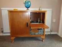Vintage BSR Record Player in Teak Cabinet