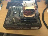 AMD Ryzen 7 1700 8cores / 16threads, Asus Strix B350-f AM4 RGB, 8GB DDR4 2400 (@3200), 240GB SSD M.2