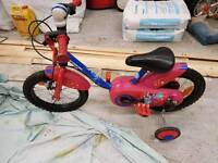 Toddlers first bike