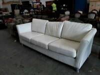 Three Seat Leather Sofa delivery available