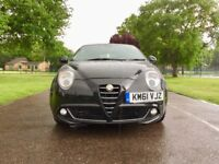2012   Alfa Romeo Mito 1.4 16v Sprint 3dr   Low 36000 Miles Only   Black Sporty   Alfa Romeo