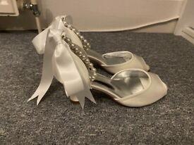 Ivory Bridal Heels UK size 5