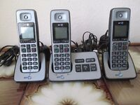 BT 2500 TRIO DIGITAL CORDLESS TELEPHONE WITH ANSWERPHONE IN VERY GOOD CONDITION.