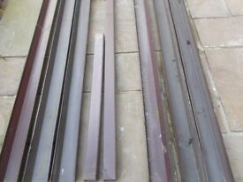SQUARE CUT BROWN GUTTERING IN VARIOUS SIZES WITH FITTINGS