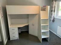 High Sleeper Single Cabin Bed (MrsFlatpack)