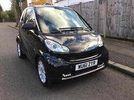 2011 smart car 451 Black Fortwo passion MHD auto coupe £0 road tax