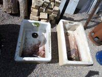 Beautiful Belfast sinks White Enamel Sinks Ponds Garden - Lots Available