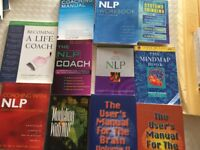 Selection of 11 Books on NLP and coaching