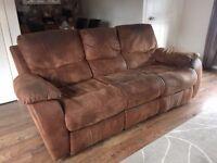 Harveys 3 Seater Sofa + 2x Recliner Rocking Armchairs