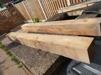 2 wooden posts for sale 6 inch by 6 inch and 6 foot long,bought for a garden project but never used.