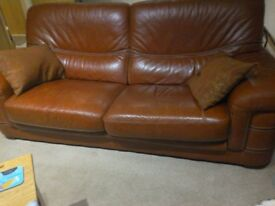 2 and 3 seater leather sofas.