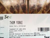 Thom Yorke Ticket