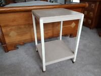 Wooden Table Stand with Castors French Shabby Chic