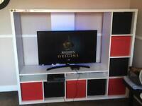TV Storage Unit White