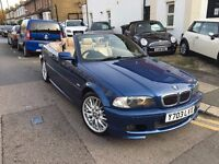 BMW 330CI M SPORT CONVERTIBLE 2001 LOW MILEAGE 13STAMP FULL HISTORY CLEAN HPI CLEAR 3 KEY DRIVE WELL
