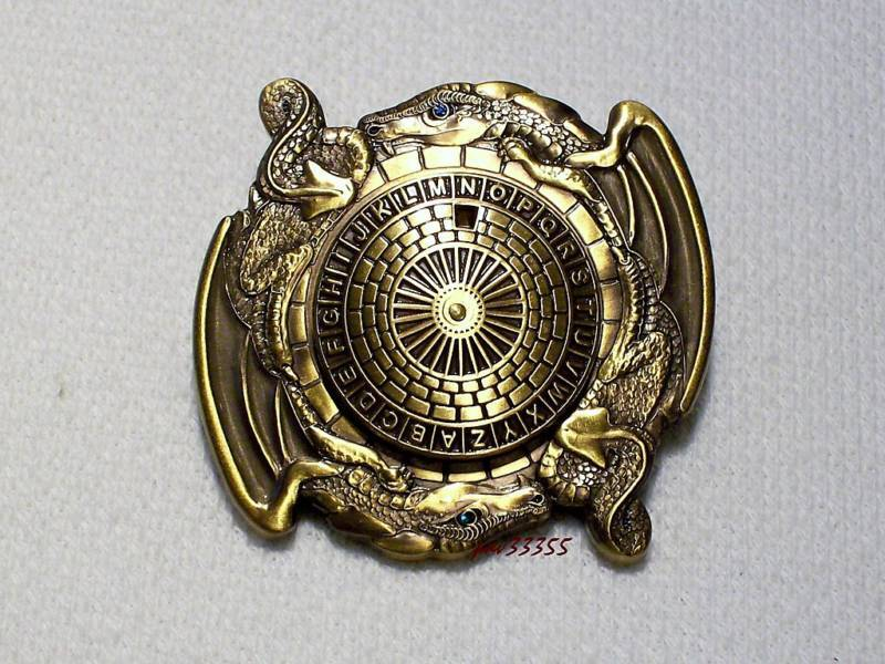 Dragon Spinner - Antique Gold - New Unactivated Geocoin