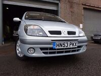53 RENAULT MEGANE SCENIC 1.9 DIESEL,MOT JULY 017,PART HISTORY,VERY LOW MILEAGE,LOVELY EXAMPLE