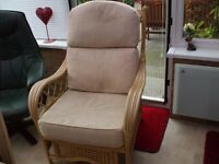PAIR OF CONSERVATORY ARM CHAIRS V.G.C